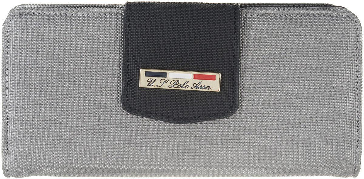 Портмоне женское U.S. Polo Assn., цвет: серебристый. A082SZ0CD0K8ESME_VR107 женское платье polo