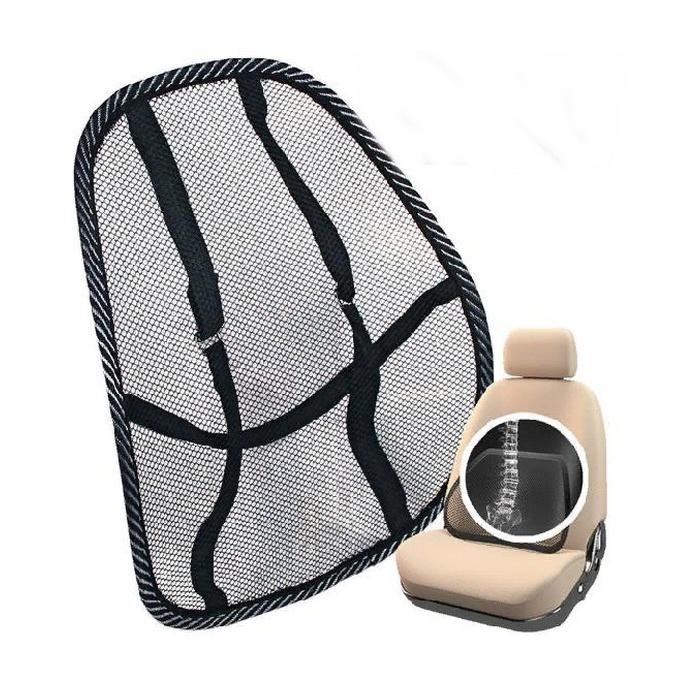 Накидка на сиденье Nova Bright поддержка поясничная, сетчатая, чёрная, 48х39см накидка на сиденье nova bright 120х43см