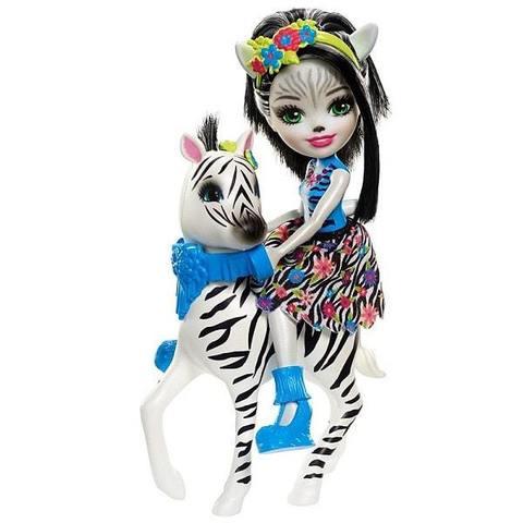 Кукла Mattel Enchantimals Зелена Зебра с любимой зверюшкой кукла enchantimals с любимой зверюшкой dvh87 fnh22 кейли коровка
