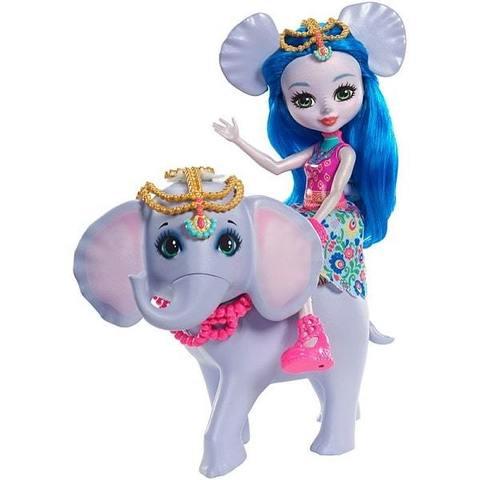 Кукла Mattel Enchantimals Екатерина Слоник с любимой зверюшкой кукла enchantimals с любимой зверюшкой dvh87 fnh22 кейли коровка