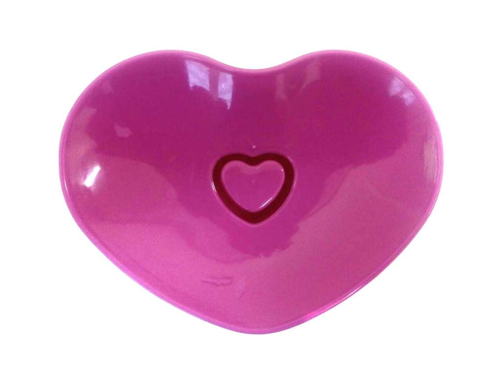Мыльница Migliores Пластиковая, двойная, красный, розовый