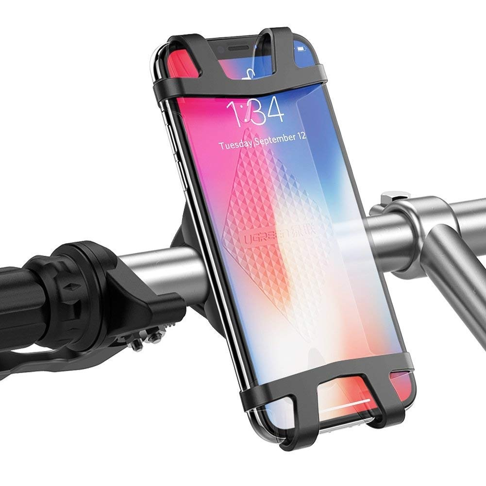 Держатель для телефона Ugreen Bike Mount Phone Holder, черный цена и фото