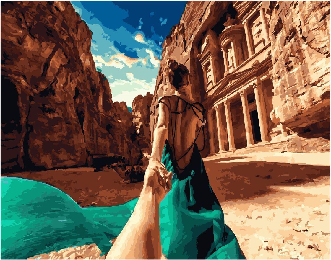 Картина по номерам ВанГогВоМне Следуй за мной Иордания 40х50см