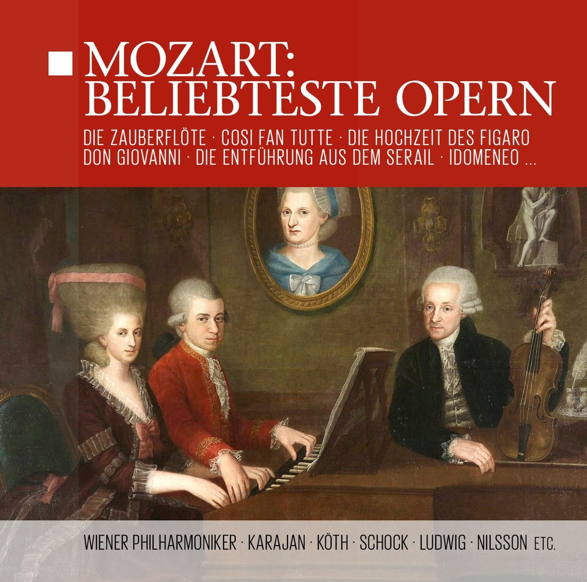 лучшая цена Wolfgang Amadeus Mozart. Beliebteste Opern (Wiener Philharmoniker, Herbert Von Karajan) (14 CD)