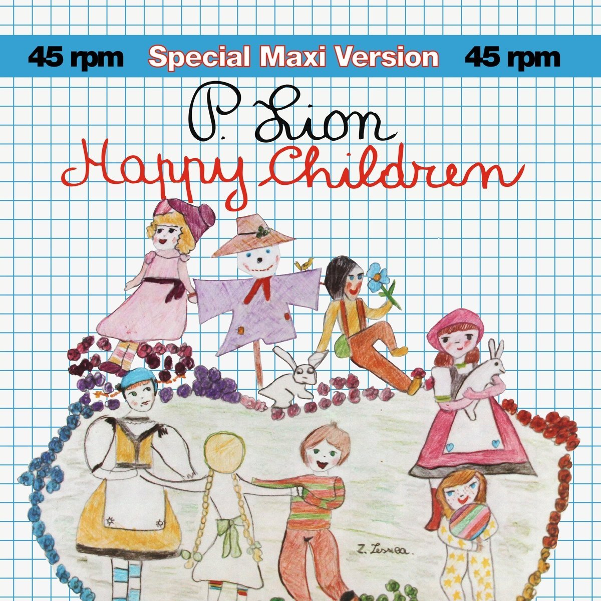 "P. Lion. Happy Children (LP, 12"")"