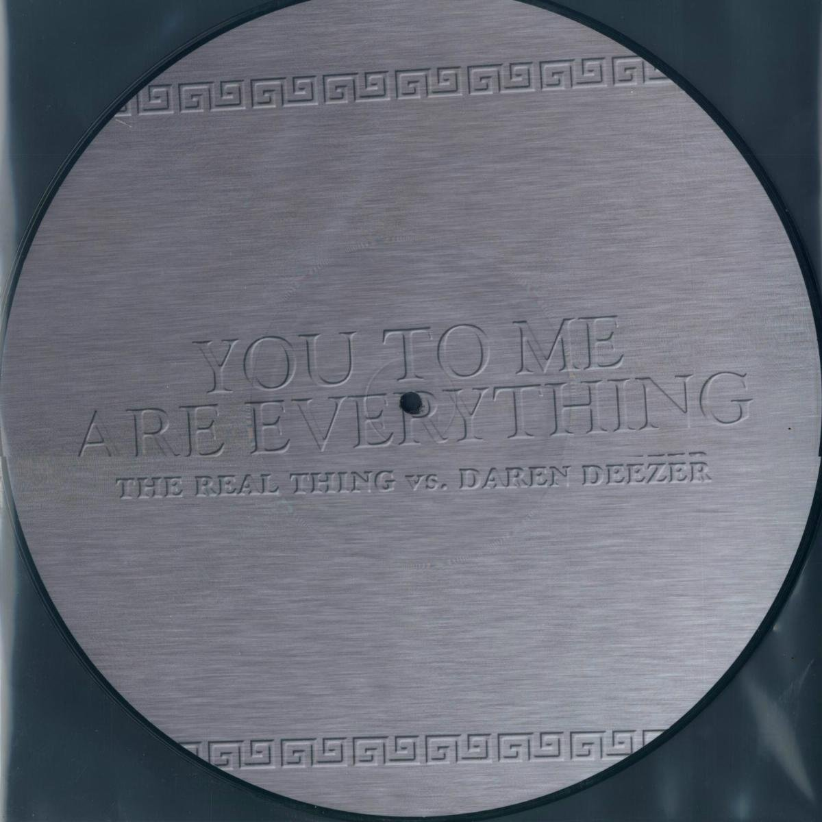 The Real Thing Vs. Daren Deeze. You To Me Are Everything (LP, Picture Disc)