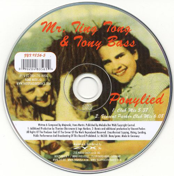 Mr. Ting Tong & Tony Bass. Ponylied (LP, Picture Disc)