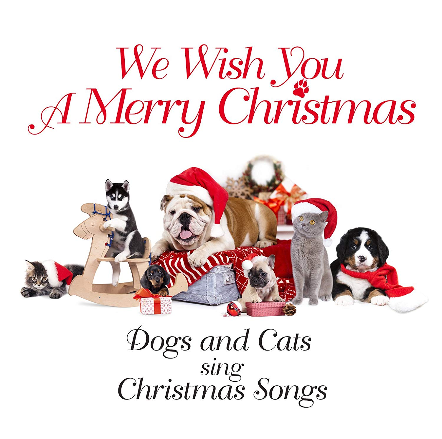 Dogs,Cats Dogs & Cats. We Wish You A Merry Christmas