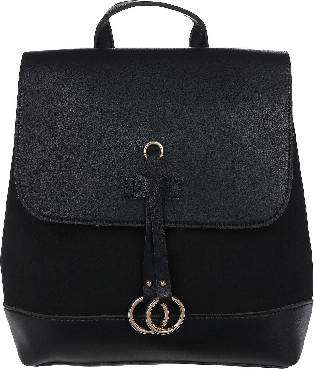 Рюкзак женский DDA, LB-1283 BK, черный рюкзак женский adidas backpack xs цвет черный dv0212