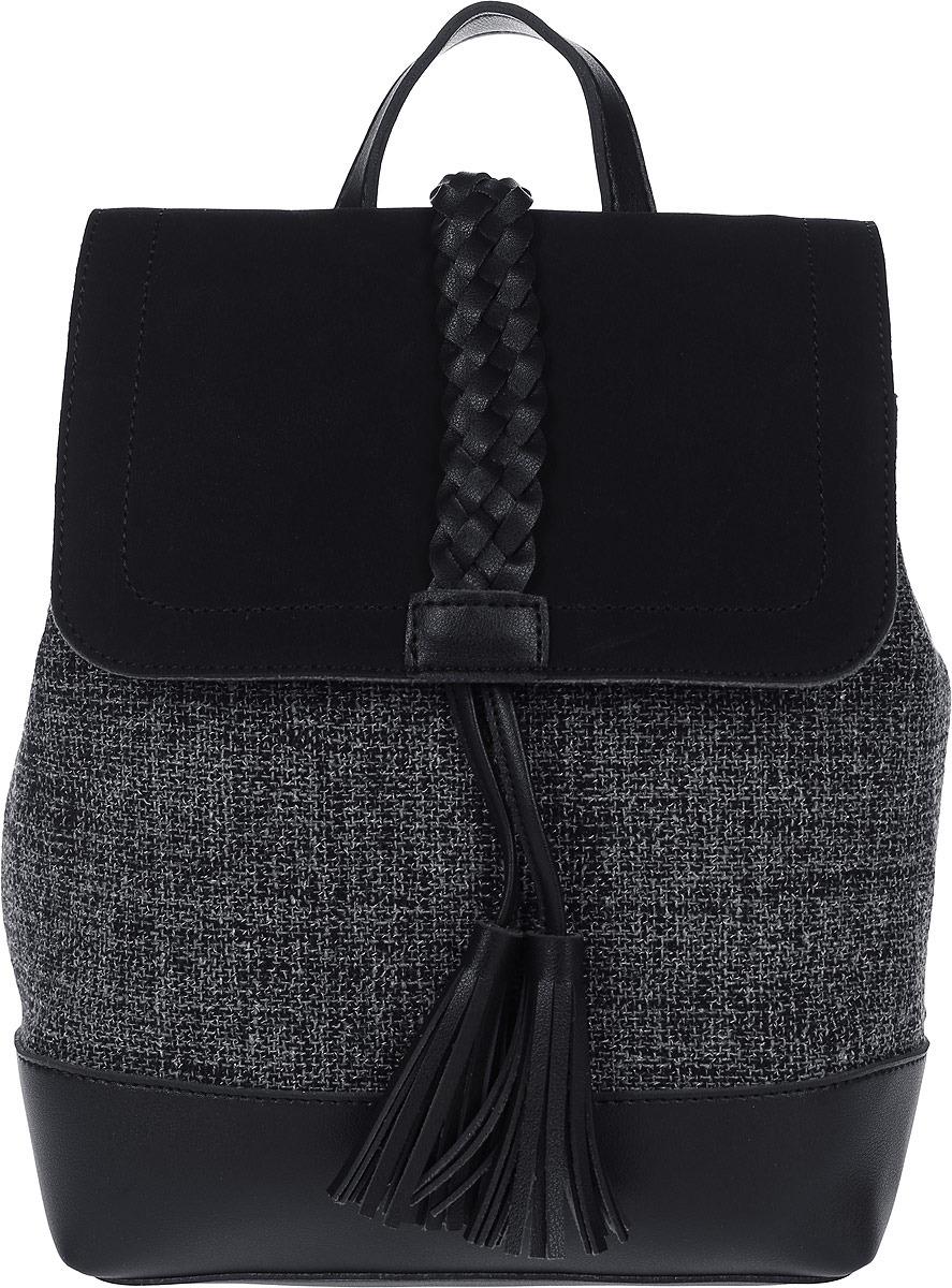 Рюкзак женский DDA, LB-1286 BK, черный рюкзак женский adidas backpack xs цвет черный dv0212