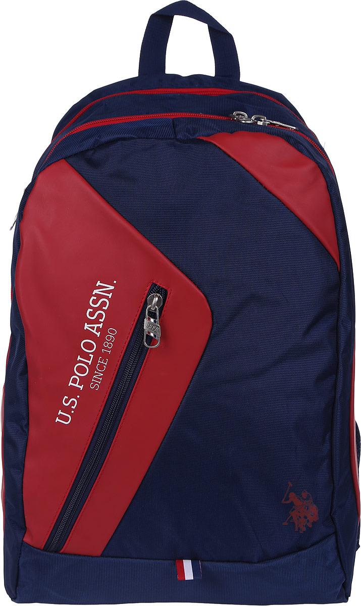 Рюкзак мужской U.S. Polo Assn., цвет: темно-синий. A081SZ060OKLPLCAN8111_NAVYBLUE/RED брюки мужские u s polo assn цвет темно синий g081sz0op0heroldsk8 vr033 размер 3xl 56