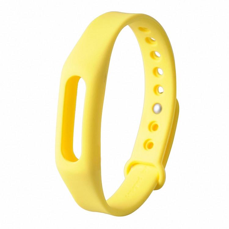 Ремешок для фитнес-браслета Xiaomi Mi Band 1 Mi Band 1S, желтый оригинальный ремешок для mi band 2 black