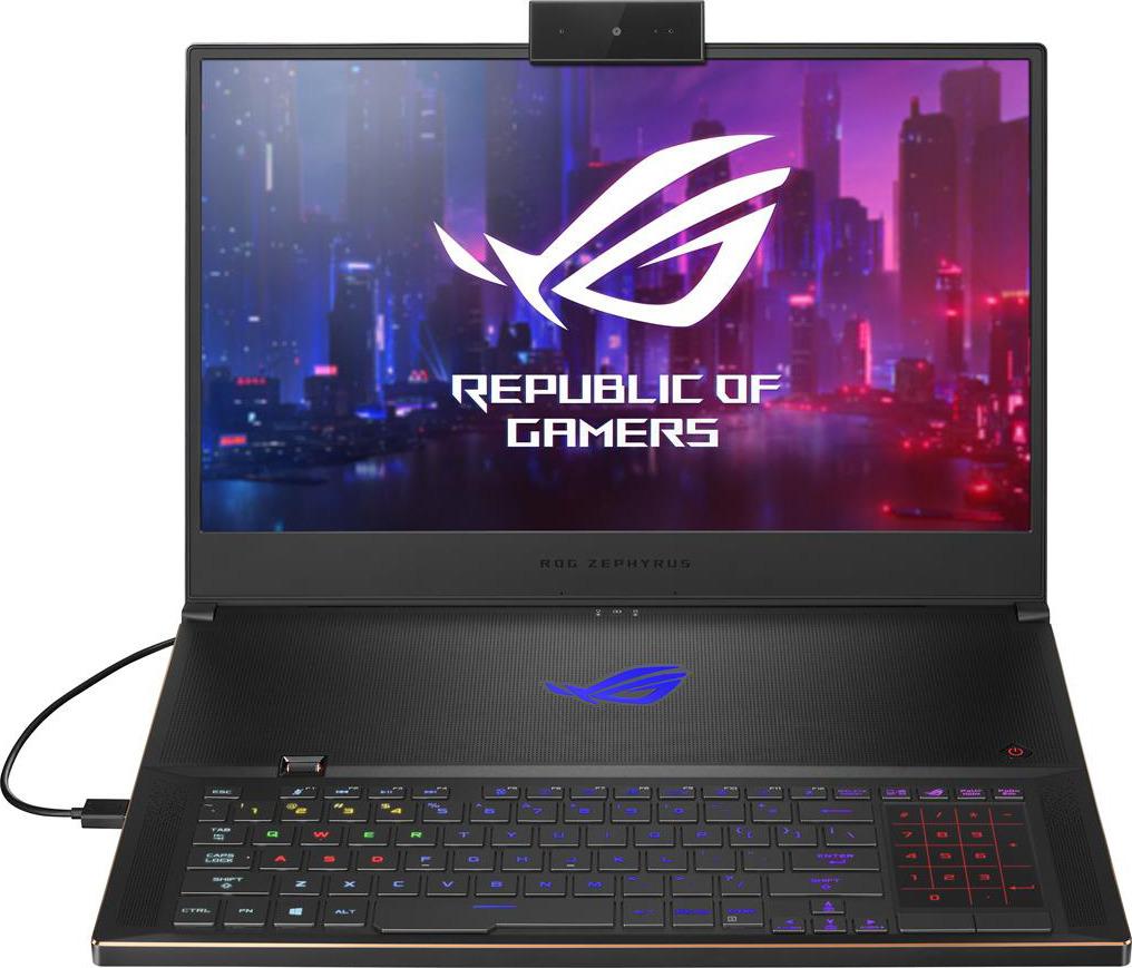 17.3 Игровой ноутбук ASUS ROG GX701GVR 90NR02I1-M00230, черный смартфон asus rog phone zs600kl 512gb black