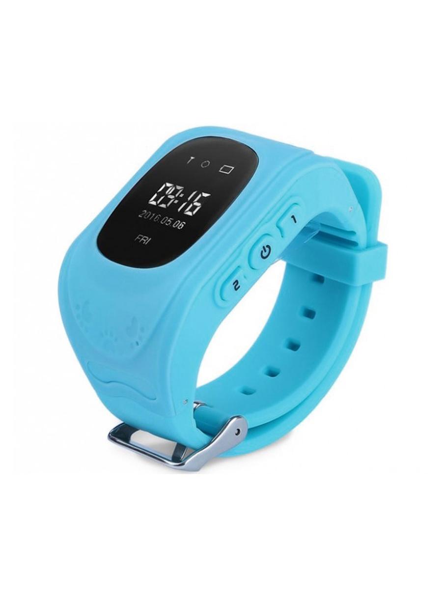 лучшая цена Детские умные часы телефон кнопочные (с gps и wi-fi)+ Приложение в подарок, Wokka Watch Q50, голубой