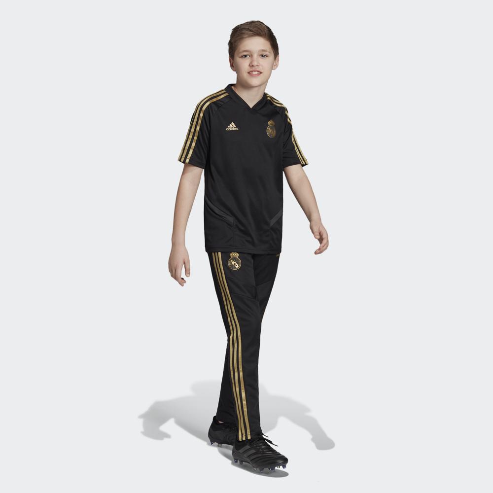 Фото Брюки для мальчика Adidas Real Tr Pnt Y, цвет: черный. DX7845. Размер 176