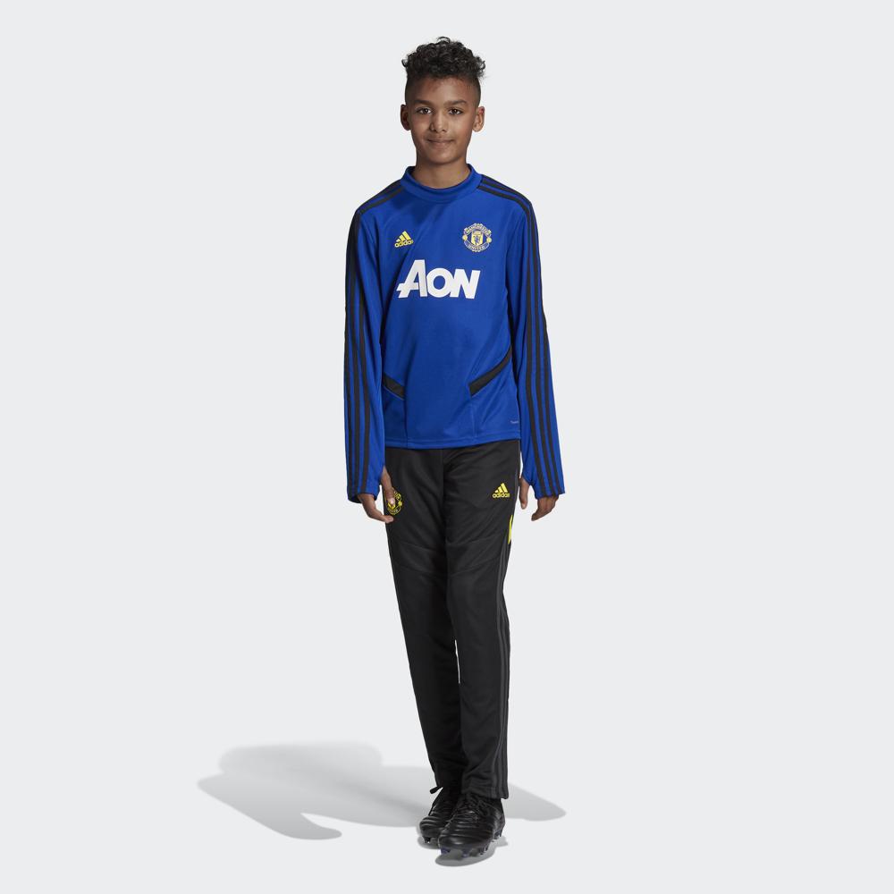 Лонгслив для мальчика Adidas Mufc Tr Topy, цвет: синий. DX9039. Размер 152 куртка для мальчика huppa stevo цвет темно синий 17990055 00086 размер 152