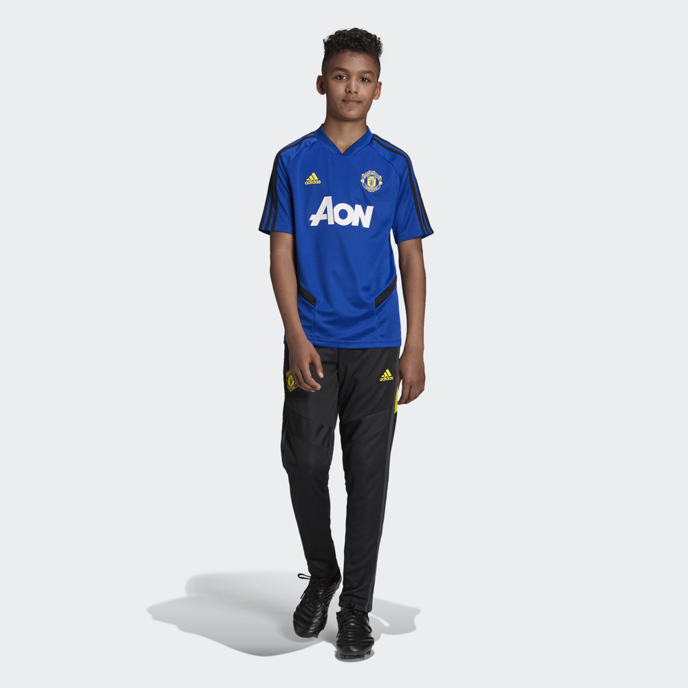 Брюки для мальчика Adidas Mufc Tr Pnty, цвет: черный. DX9055. Размер 164 футболка для мальчика fila цвет черный a19afltsb03 99 размер 164