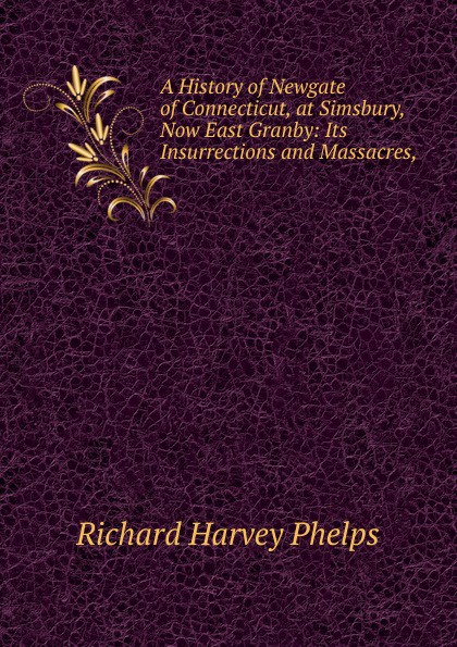 Richard Harvey Phelps A History of Newgate of Connecticut, at Simsbury, Now East Granby: Its Insurrections and Massacres, newgate newgate brix392ch