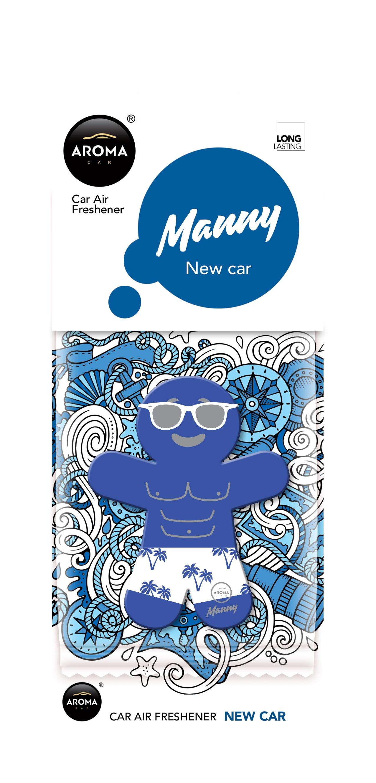 Автомобильный ароматизатор Aroma Car Manny, New Car автомобильный ароматизатор golden snail aroma football ванильный крем