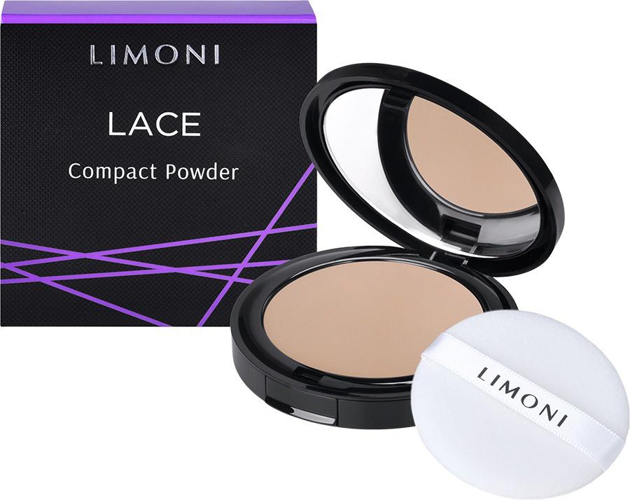 Пудра Limoni компактная Lace Powder, 01 тон компактная пудра tf nude bb тон 02