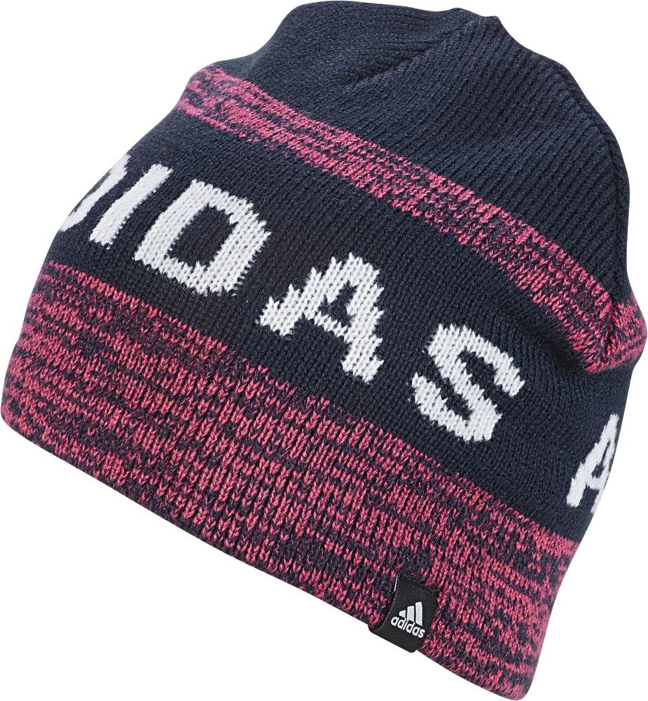 купить Шапка детская Adidas Gr Beanie, цвет: темно-синий, розовый. ED8643. Размер 54/56 по цене 1190 рублей