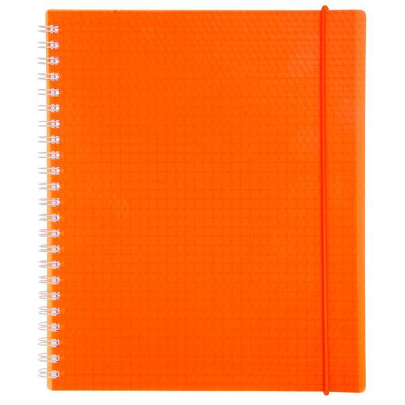 Тетрадь 80л А5ф клетка Пластиковая обложка на гребне на резинке DIAMOND NEON Оранжевая тетрадь 120л а5ф на 4 х кольцах пластиковая обложка на резинке diamond неон желтая