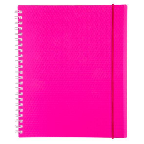 Тетрадь 80л А5ф клетка Пластиковая обложка на гребне на резинке DIAMOND NEON Розовая тетрадь 120л а5ф на 4 х кольцах пластиковая обложка на резинке diamond неон желтая