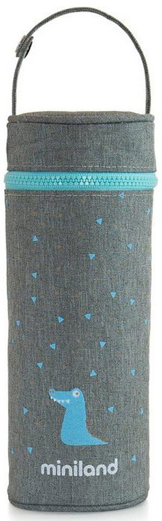 Термосумка для бутылочки Miniland Silky, голубой, 350 мл цена и фото