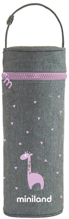 Термосумка для бутылочки Miniland Silky, розовый, 350 мл цена и фото