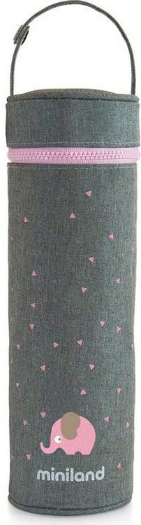 Термосумка для бутылочки Miniland Silky, розовый, 500 мл цена и фото