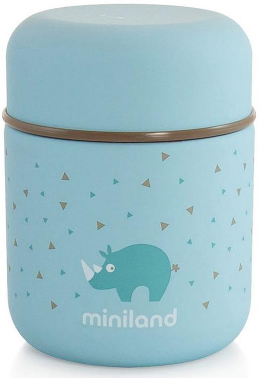 Термос для еды и жидкостей Miniland Silky Thermos Mini, голубой, 280 мл цена 2017