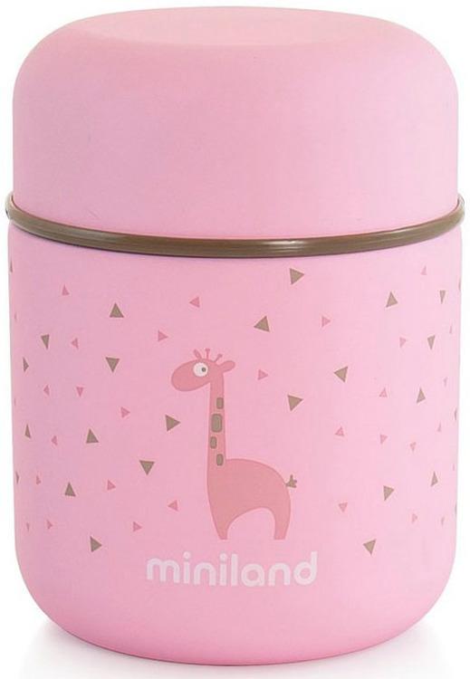 Термос для еды и жидкостей Miniland Silky Thermos Mini, розовый, 280 мл цена 2017