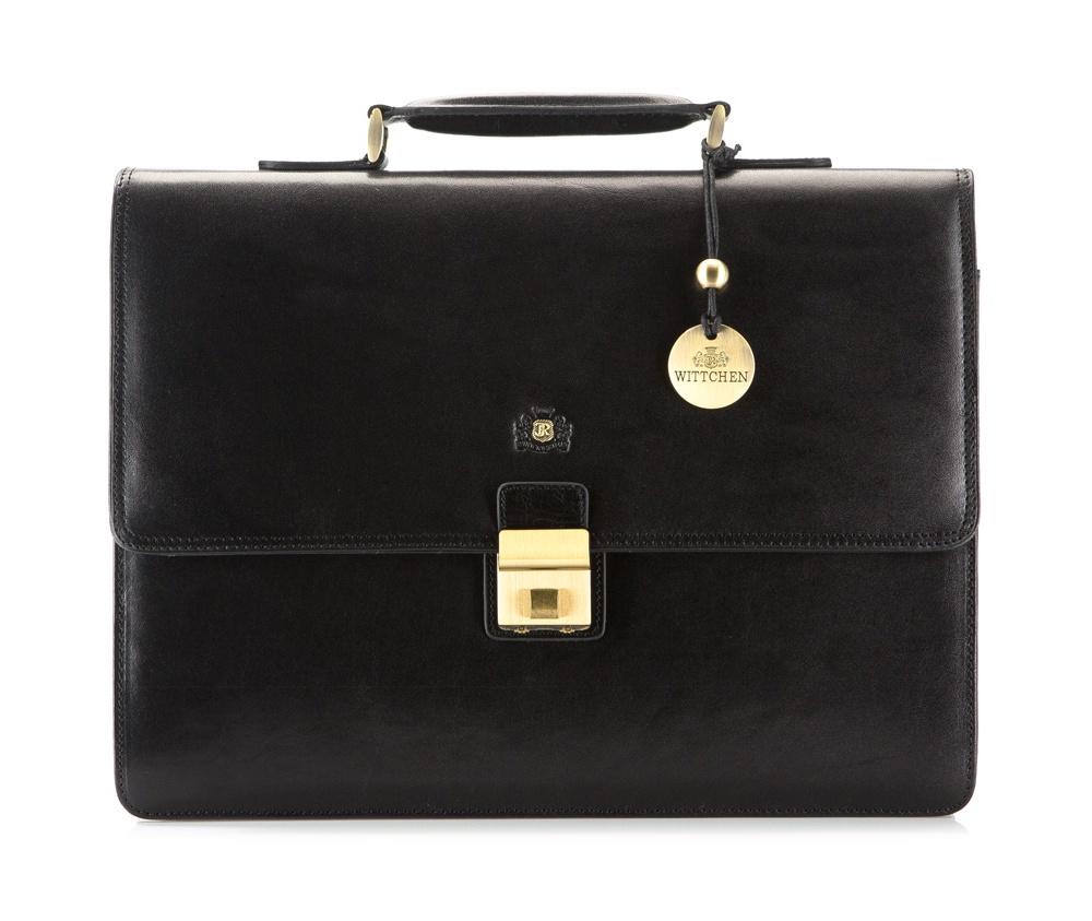 Портфель Wittchen 39-3-104, черный портфель wittchen 39 3 104 39 3 104 3 коричневый