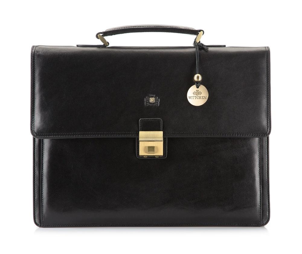 Портфель Wittchen 39-3-108, черный портфель wittchen 39 3 104 39 3 104 3 коричневый