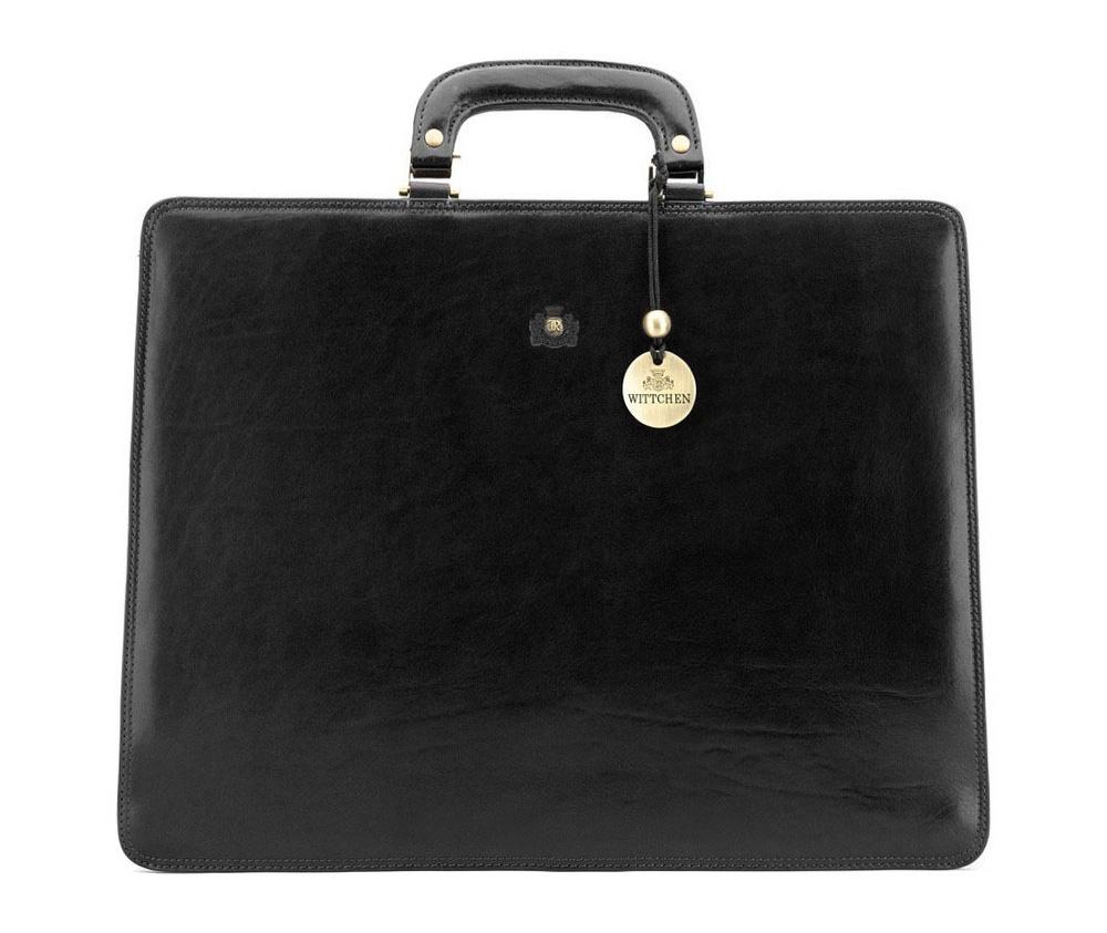 Портфель Wittchen 39-3-109, черный портфель wittchen 39 3 104 39 3 104 3 коричневый