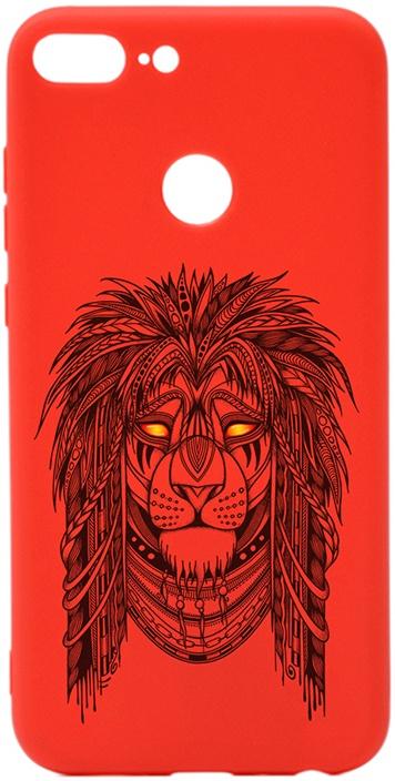 Чехол для сотового телефона GOSSO CASES для Honor 9 Lite Soft Touch Art Grand Leo Red, красный