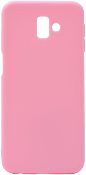 Чехол для сотового телефона GOSSO CASES для Samsung Galaxy J6+ Soft Touch Pink, розовый