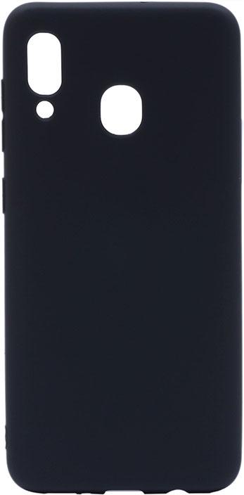 Чехол для сотового телефона GOSSO CASES Samsung Galaxy A30 Soft Touch Black, черный