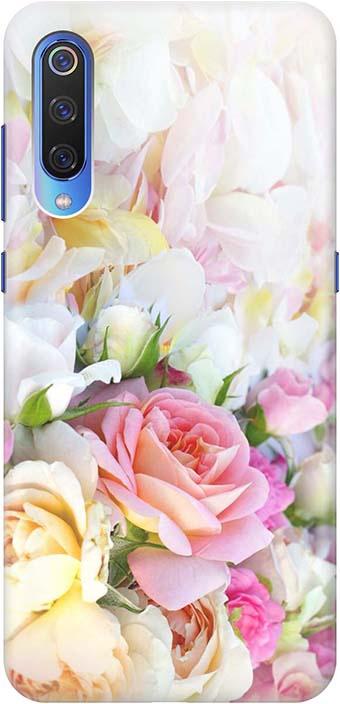 """Чехол для сотового телефона GOSSO CASES для Xiaomi Mi 9 с принтом """"Нежные розы"""", белый"""