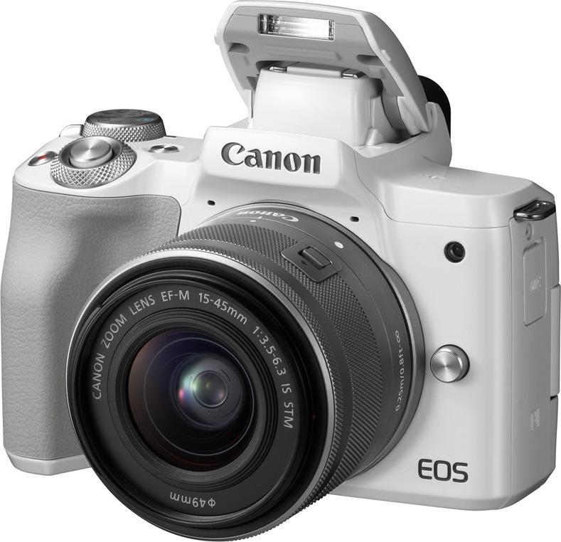 Беззеркальный фотоаппарат Canon EOS M50 kit 15-45 IS STM белый