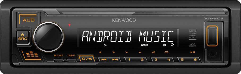 Автомагнитола Kenwood KMM-105GY автомагнитола kenwood kmm 105gy 1din 4x50вт