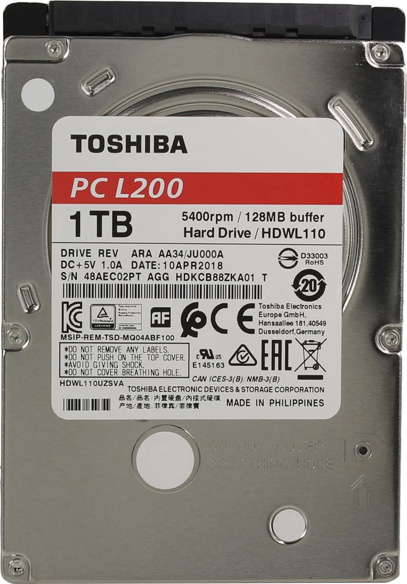 Жесткий диск Toshiba L200 Slim, 1 ТБ