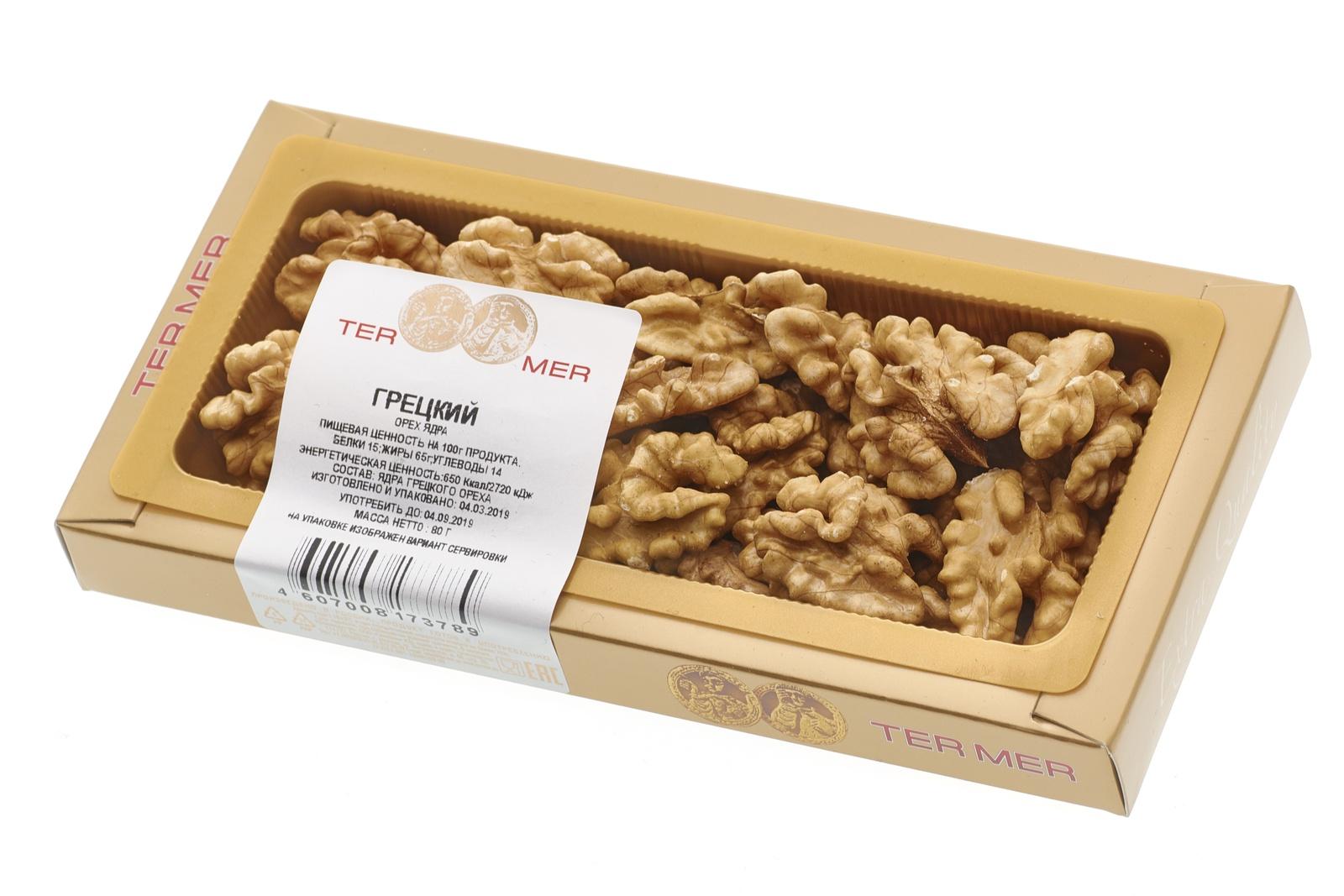 Грецкий орех ядра (чилийский), 80 г цена в Москве и Питере