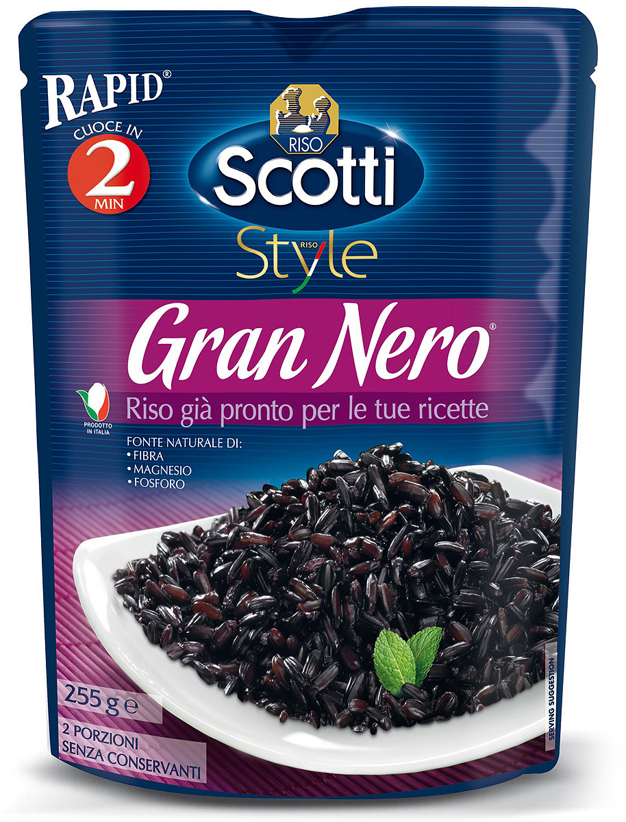 Рис Riso Scotti Rapid Gran Nero, готовый к употреблению, 255 г robert falcon scott scotti viimne ekspeditsioon