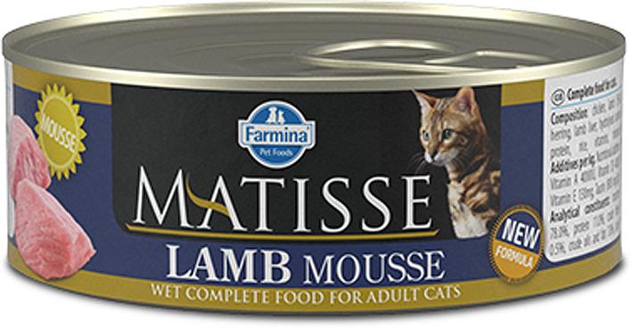 Корм консервированный для кошек Farmina Matisse, мусс с ягненком, 85 г