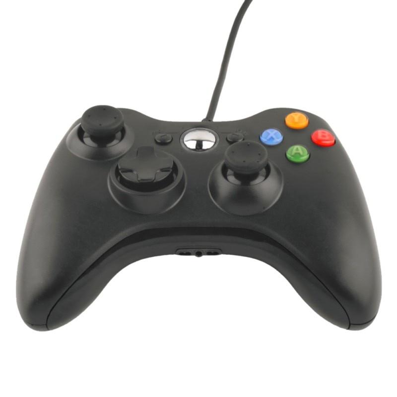 Игровая приставка TopSeller USB-проводной джойстик для геймпада Xbox 360, черный