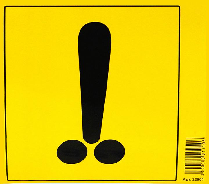 Наклейка автомобильная Начинающий водитель, двусторонняя, Ар32901, желтый наклейка автомобильная sapfire неопытный водитель