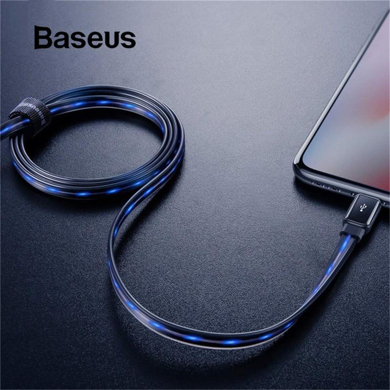 Кабель Baseus светящийся зарядный USB-кабель, черный snowkids apple кабель для передачи данных 1 5 м iphone4 телефон кабель для передачи данных зарядный кабель белый для apple iphone4s 4