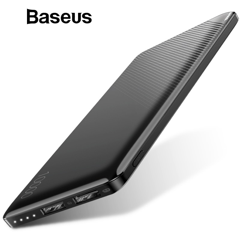 Зарядное устройство Baseus 10000 мАч, Power Bank, белый внешний аккумулятор baseus power bank mini q light and portable 10000 черный