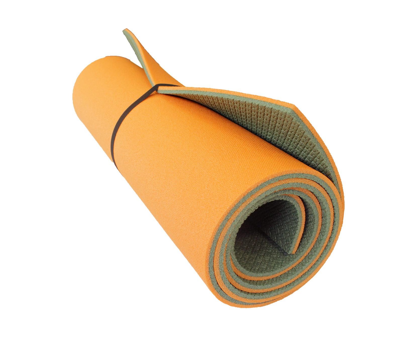 Коврик туристический WoodLand Forest Lux 10, 40799, оранжевый, оливковый, 180 х 60 см